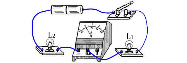 下图中的两个灯泡是串联的