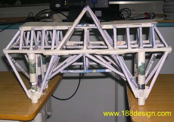 纸质桥梁模型制作方法